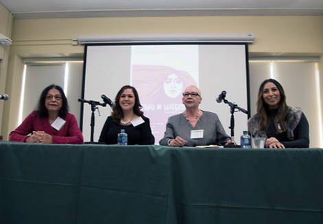 Panel of speakers at the Latinas in Leadership conference